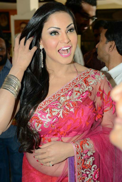 Veena malik public saree photos