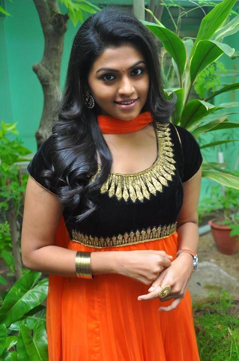 Nandhana orange color dress desktop photos