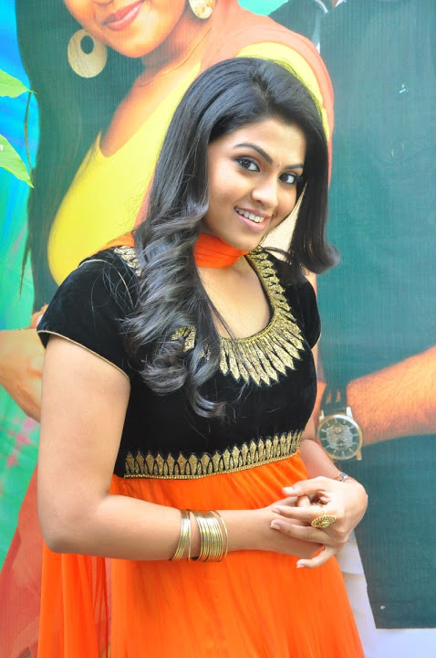 Nandhana orange color dress unseen pictures