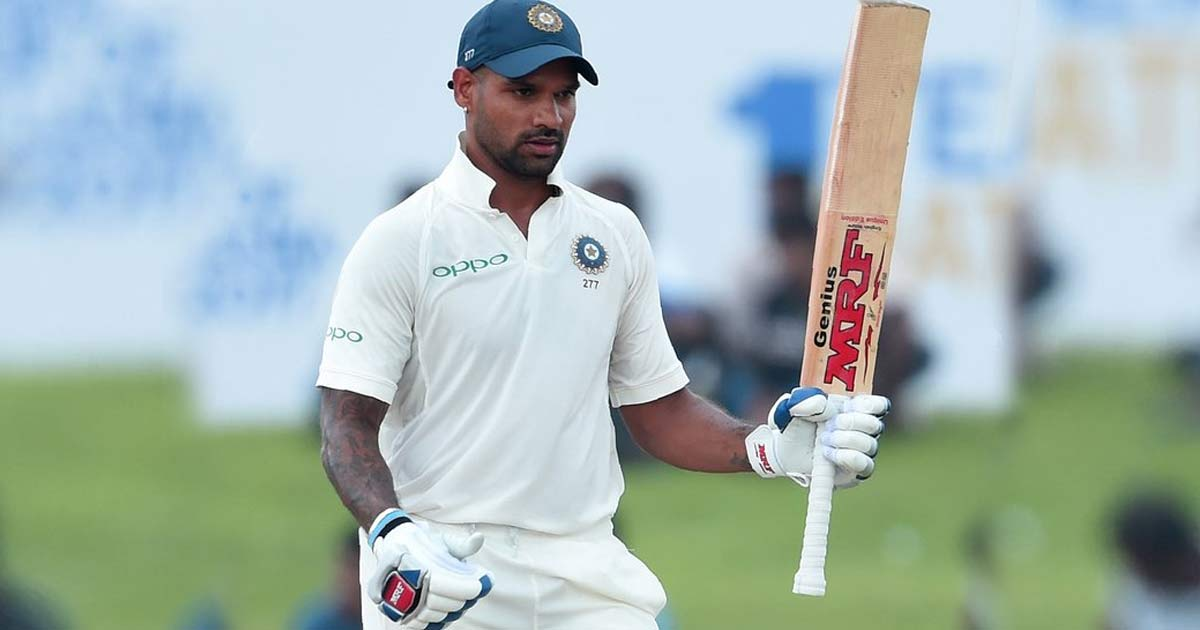 Shikhar dhawan test match pictures