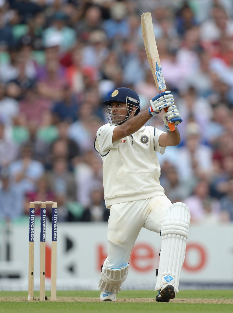 Dhoni helicopter shot six test match pictures