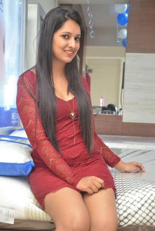 Nikita bisht red dress fashion stills