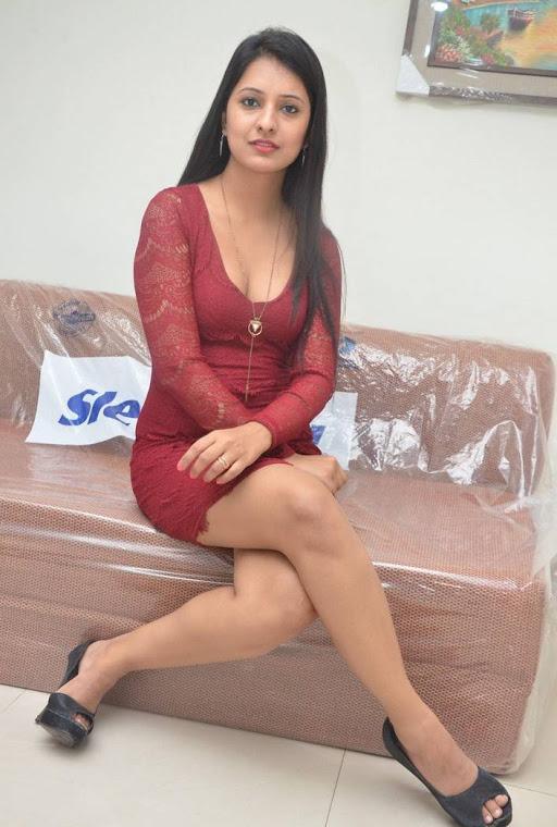 Nikita bisht red dress interview pics