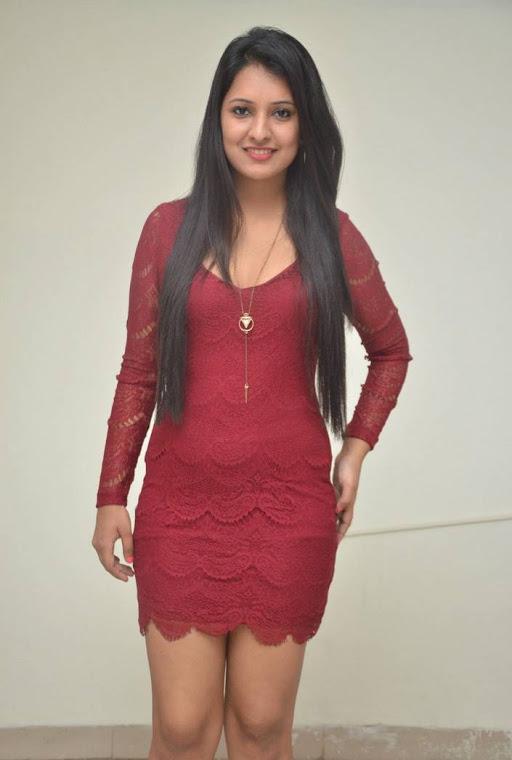 Nikita bisht red dress smile pose slide show