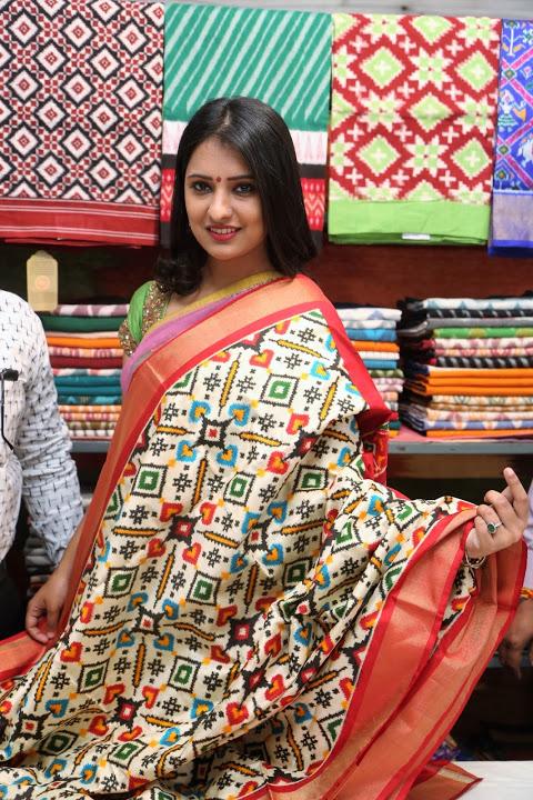 Nikitha bisht exclusive glamour saree image