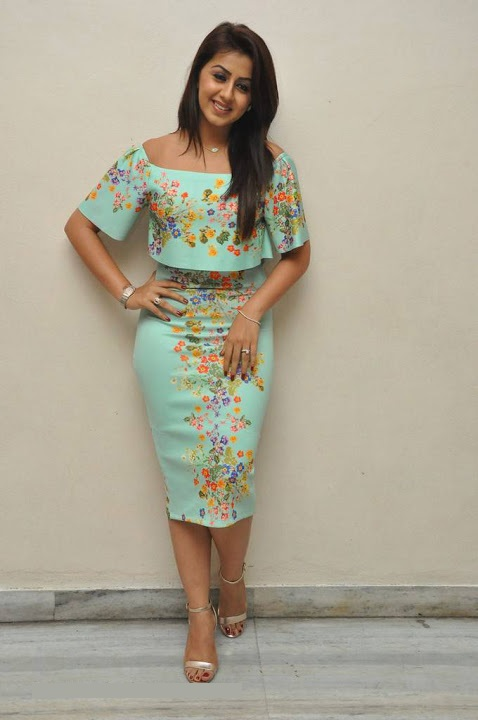 Nikki galrani light green color dress hot image