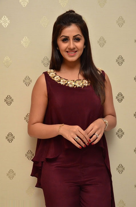 Nikki galrani purple color dress exclusive photos