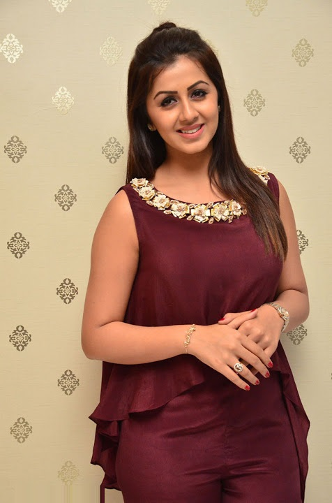 Nikki galrani purple color dress interview fotos