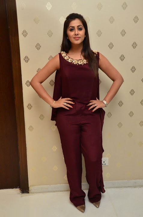 Nikki galrani purple color dress modeling gallery