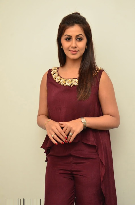 Nikki galrani purple color dress press meet stills