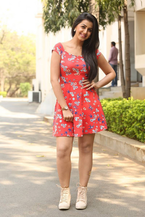 Nikki galrani red dress hot movie promotion gallery