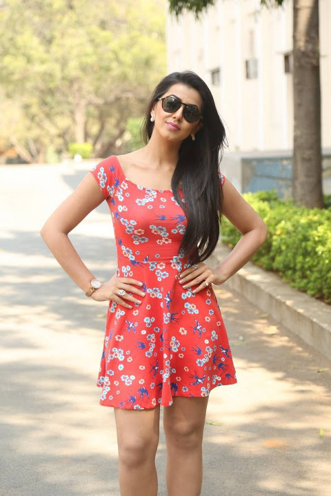 Nikki galrani red dress hot smile pose photos