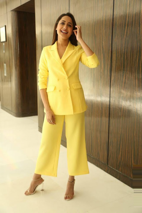 Pragya jaiswal yellow dress fashion photos