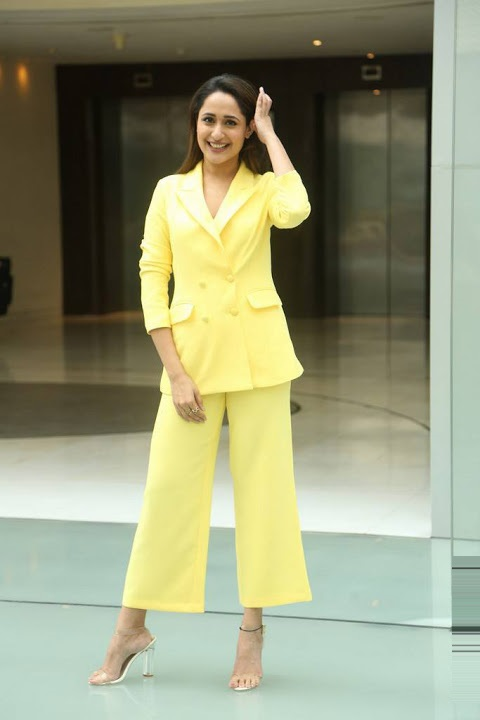 Pragya jaiswal yellow dress gallery