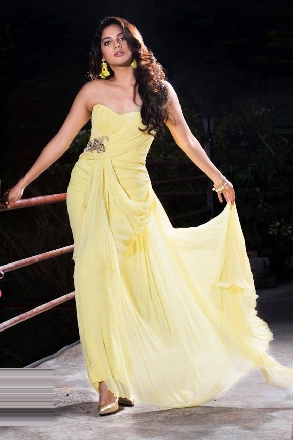 Tanya hope yellow dress exclusive image
