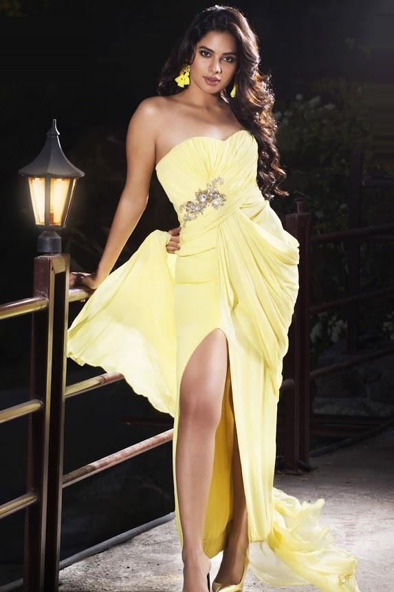 Tanya hope yellow dress photoshoot gallery