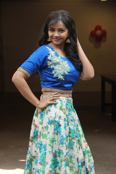 Nithya shetty blue dress computer stills
