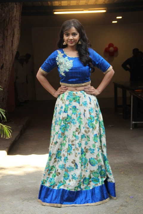 Nithya shetty blue dress cool image