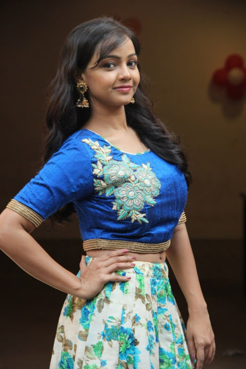 Nithya shetty blue dress press meet slide show
