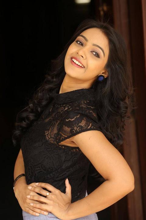 Nitya shetty black dress cute photos