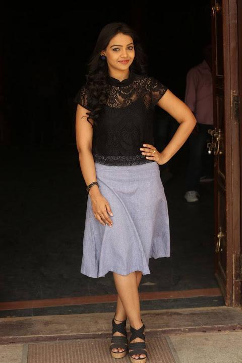 Nitya shetty black dress glamour pics