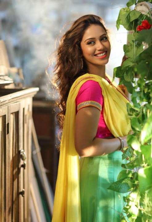 Nivetha pethuraj interview half saree pictures