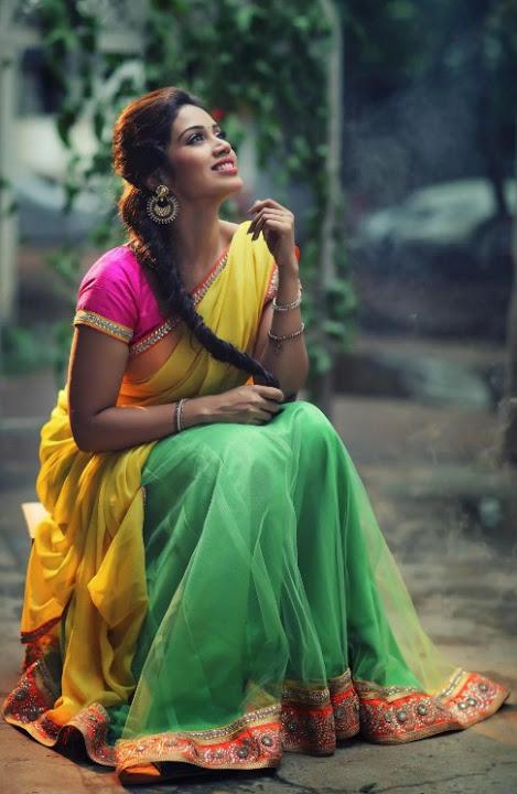 Nivetha pethuraj photoshoot half saree pictures