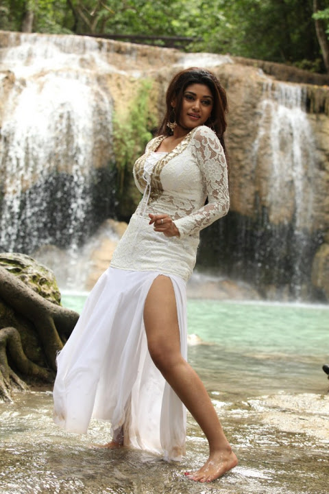 Oviya helen hot white dress cute image