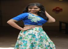 nithya shetty blue dress pictures