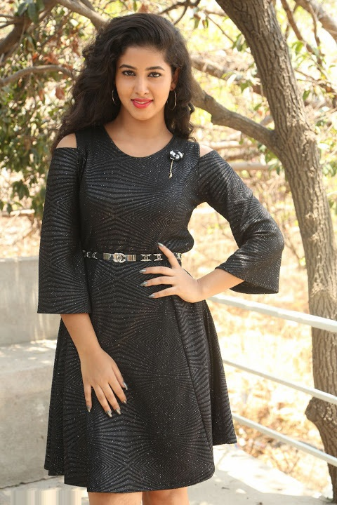 Pavani reddy black dress exclusive glamour image