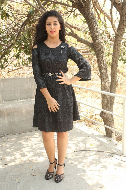 Pavani reddy black dress exclusive unseen gallery
