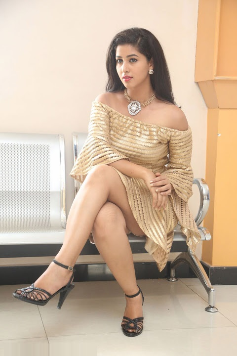 Pavani reddy gold color dress beautiful hd pictures