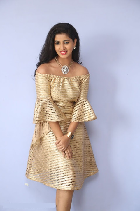 Pavani reddy gold color dress cute gallery
