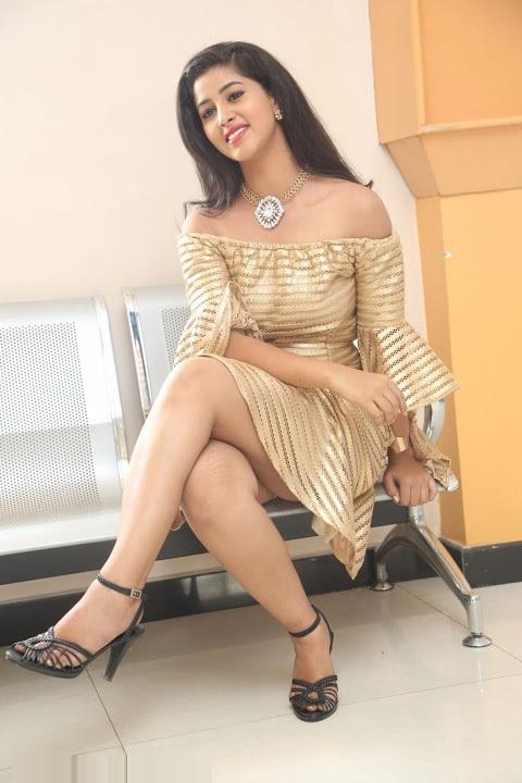 Pavani reddy gold color dress cute hd photos