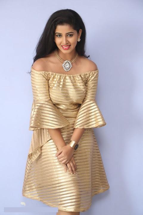 Pavani reddy gold color dress glamour wallpaper