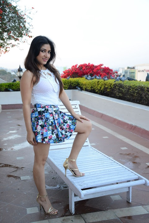 Prabhjeet kaur white dress figure stills