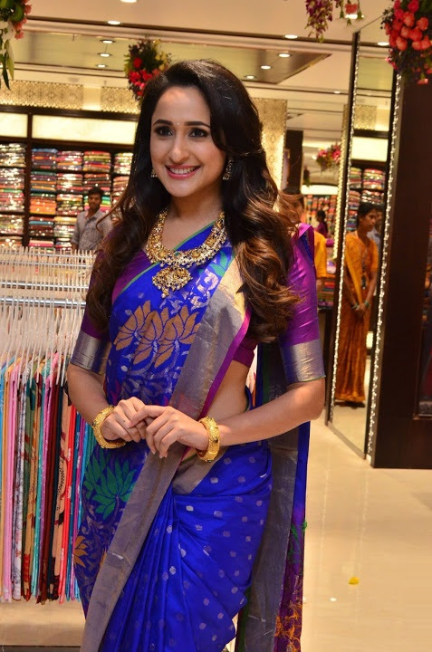 Pragya jaiswal blue saree wide slide show