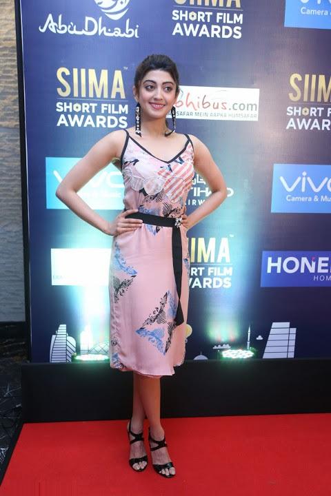 Pranitha subhash siima short film award pictures