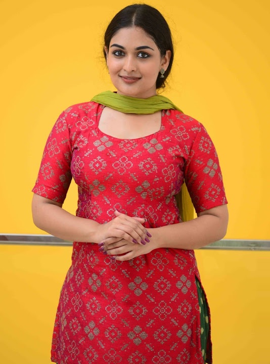 Prayaga martin red dress exclusive image