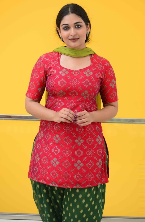 Prayaga martin red dress fashion stills