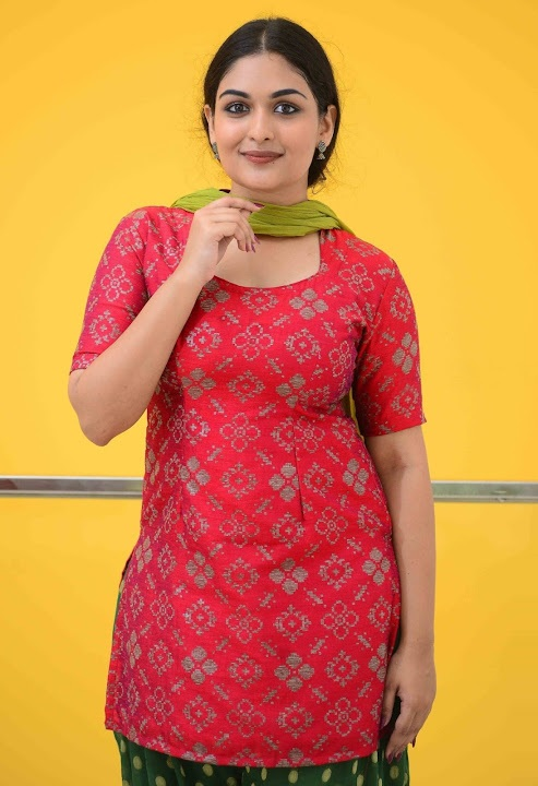 Prayaga martin red dress glamorous fotos