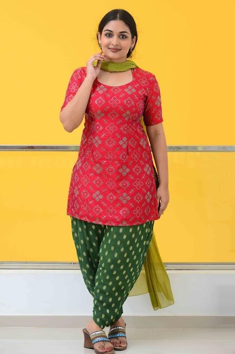 Prayaga martin red dress press meet pictures