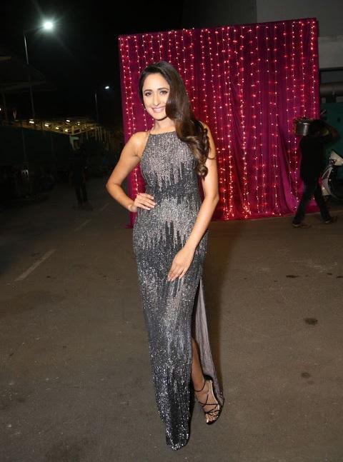 Pragya jaiswal figure black dress stills