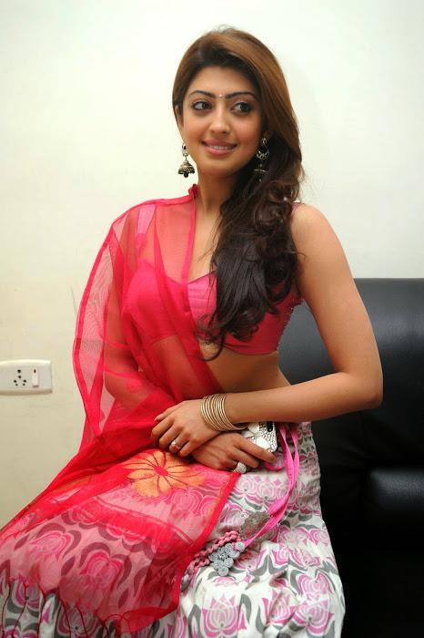 Pranitha subhash half saree glamour image