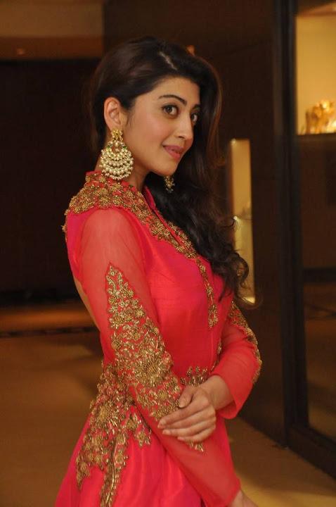Pranitha subhash red dress modeling image