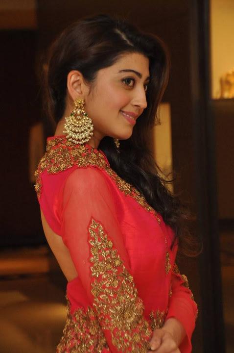 Pranitha subhash red dress smile pose pics