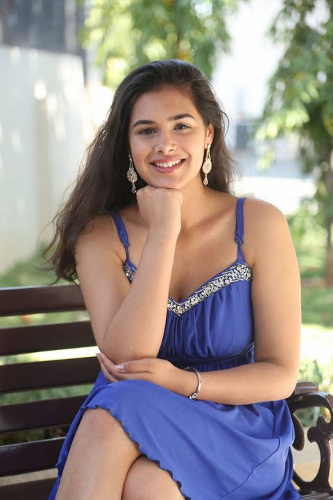 Prasanna blue dress cute pictures