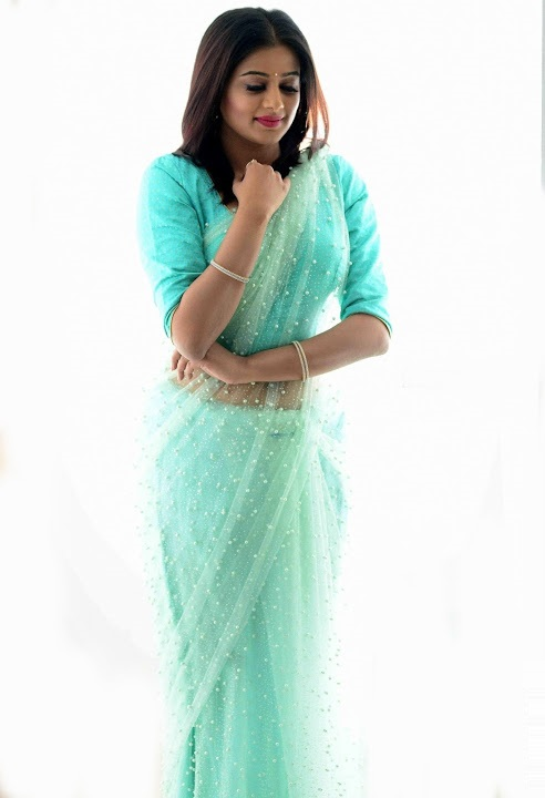 Priya mani light blue saree cool photos